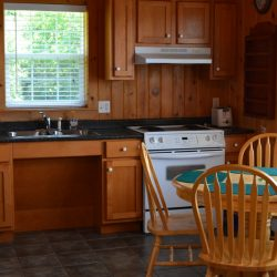 Pomquet Beech Cottages: Moose Den Kitchen with front facing stove controls